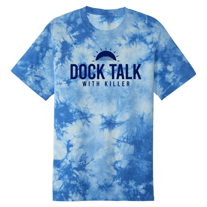 Alex Killorn DOCK TALK WITH KILLER Limited Edition Tie-Dye Tee - 100% of proceeds to benefit the Hillsborough Education Foundation