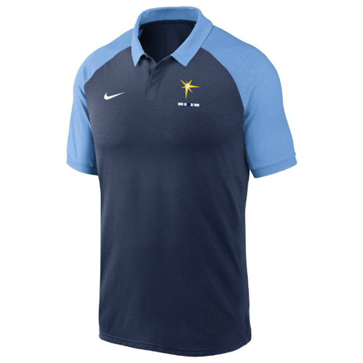 Men's Tampa Bay Rays Nike Navy Legacy Polo