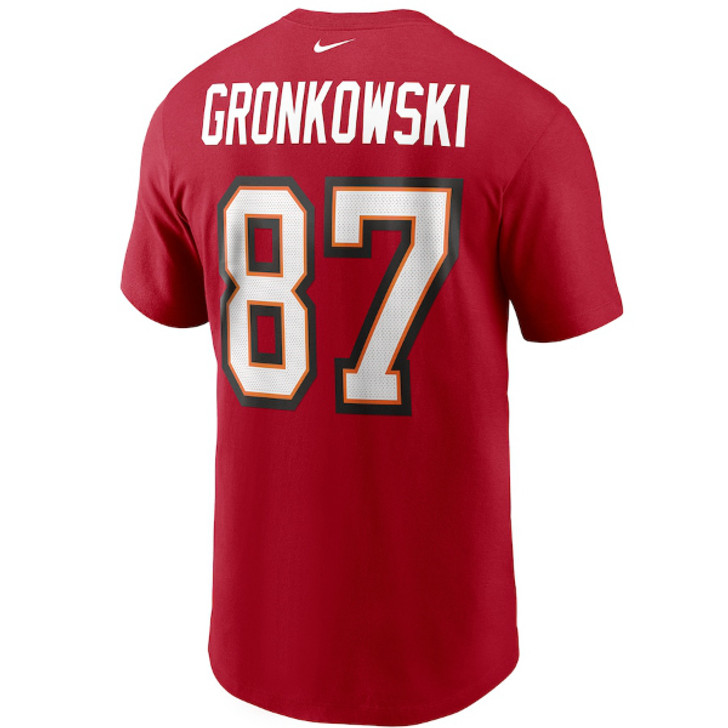 Men's Tampa Bay Buccaneers Nike Rob Gronkowski Red Name & Number Tee