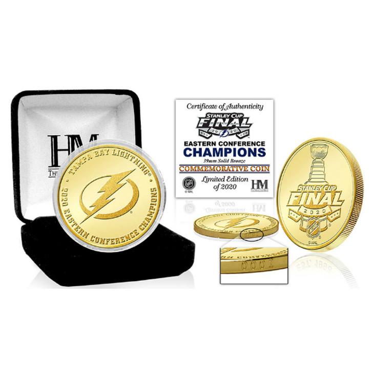 Tampa Bay Lightning 2020 Eastern Conference Champions Limited Edition Bullion Bronze Coin