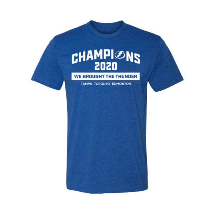 Youth Tampa Bay Lightning We Brought The Thunder 2020 Champions T-shirt