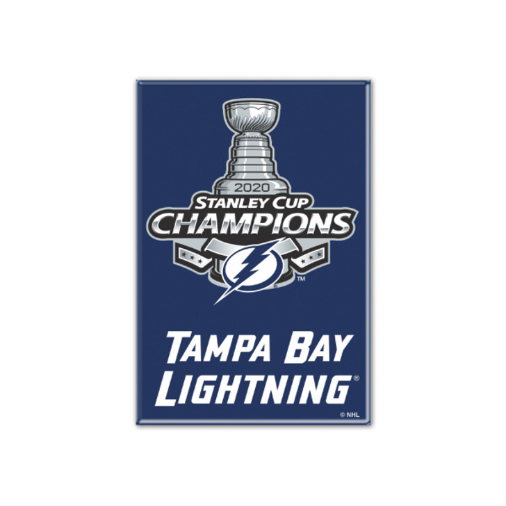 Tampa Bay Lightning 2020 Stanley Cup Champions 2x3 Logo Magnet
