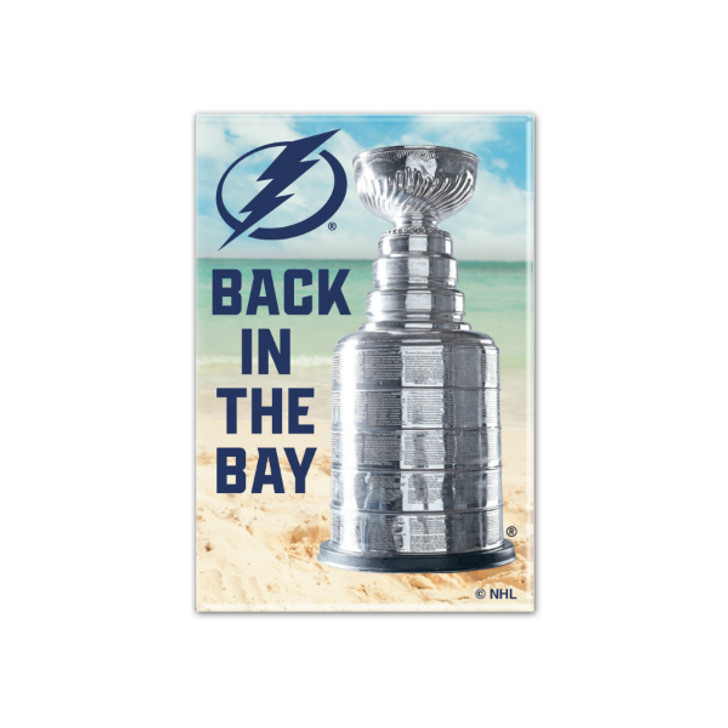 Tampa Bay Lightning 2020 Stanley Cup Champions 2x3 Beach Magnet