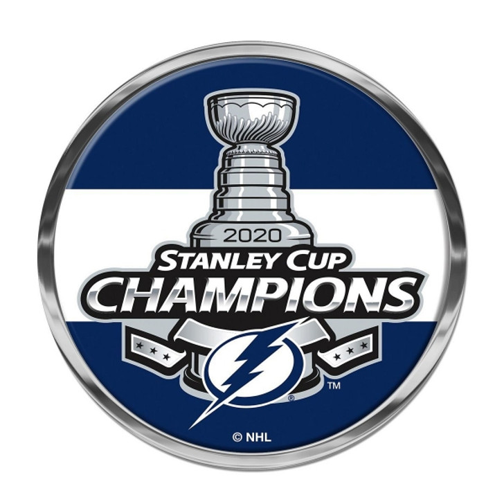 Tampa Bay Lightning 2020 Stanley Cup Champions Metal Domed Auto Emblem