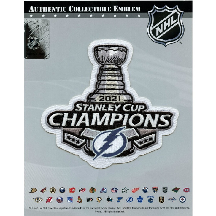 Tampa Bay Lightning 2021 Stanley Cup Champions Jersey Patch