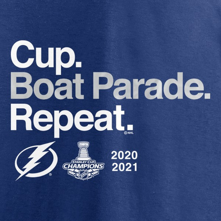 Women's Tampa Bay Lightning 2021 Stanley Cup Champions Lightning Official Boat Parade Tee