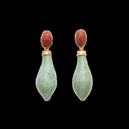 carnival moss earrings