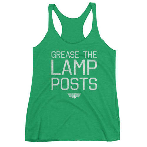Grease the Lamp Posts Ladies' Racerback Triblend Tank