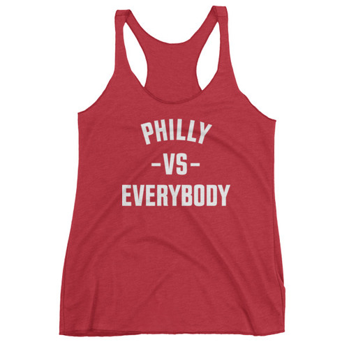 Philly Vs Everybody Ladies' Racerback Tank (Red)