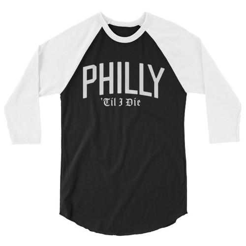 Philly 'Til I Die (Black) Unisex Raglan