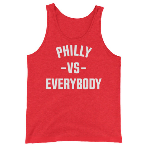 Philly Vs Everybody (Red) Unisex Triblend Tank Top
