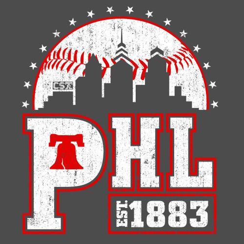 PHL Baseball (Charcoal)