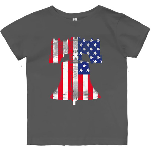 Freedom Ringing Toddler Tee (Charcoal)
