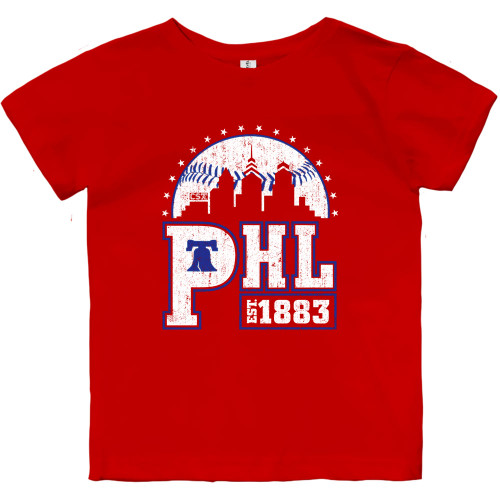 PHL Skyline Toddler Tee (Red)