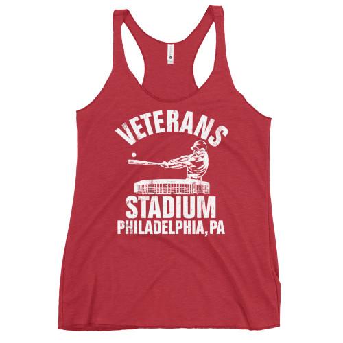 Vet Stadium Baseball Women's Racerback Tank