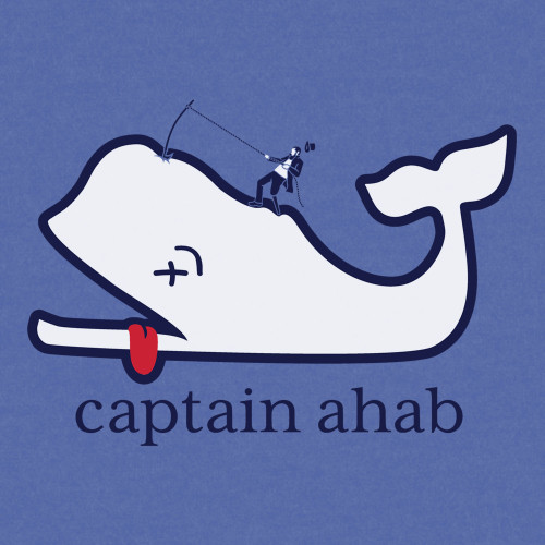 Ahab Vines Triblend Tee (Blue)