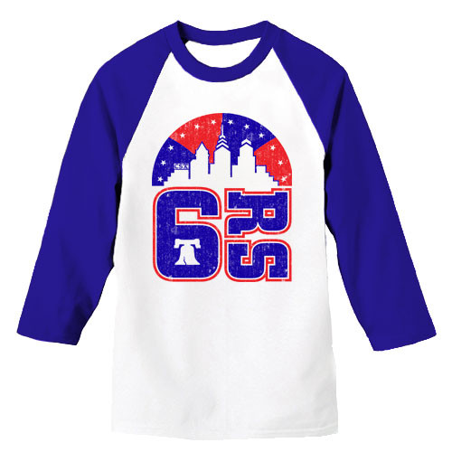 6rs Skyline Unisex Raglan (Wht/Royal)
