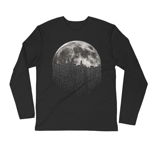 Lunadelph Long Sleeve Fitted Crew