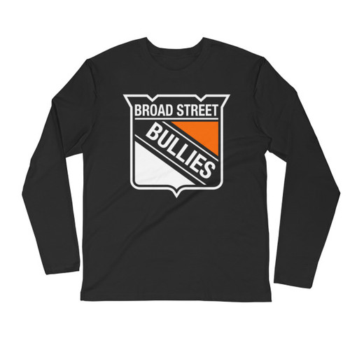 Broad Street Bullies Shield Long Sleeve Fitted Crew