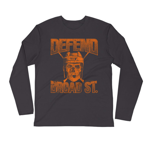 Defend Broad Street Long Sleeve Fitted Crew