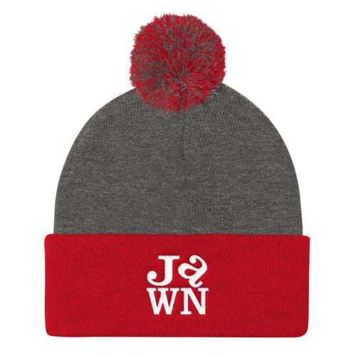 Love Jawn Pom Pom Knit Cap
