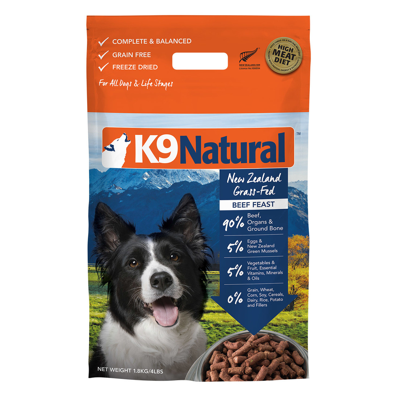K9 Natural Freeze Dried Beef Feast Dog Food