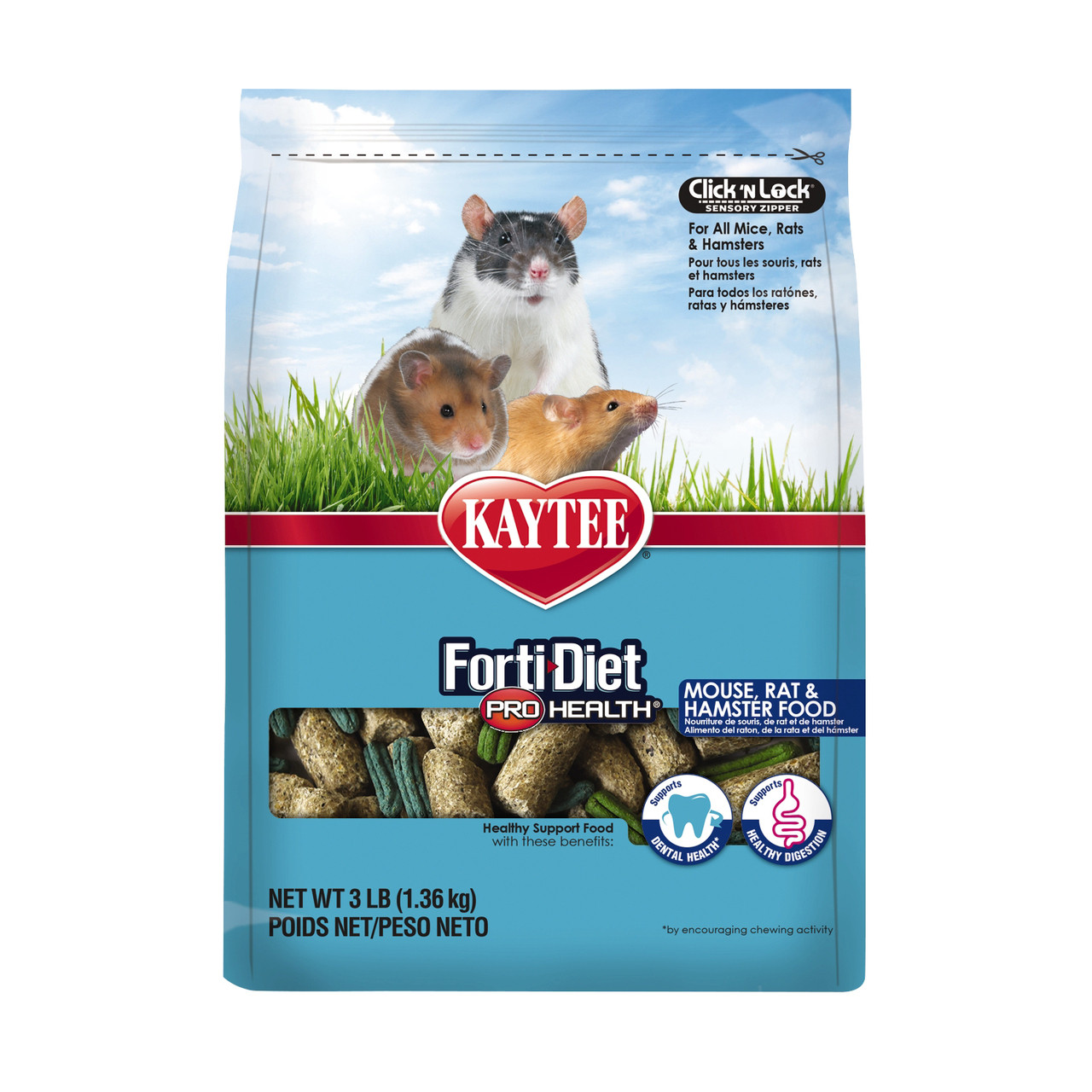 Kaytee Forti-Diet Pro Health Mouse, Rat, and Hamster Food