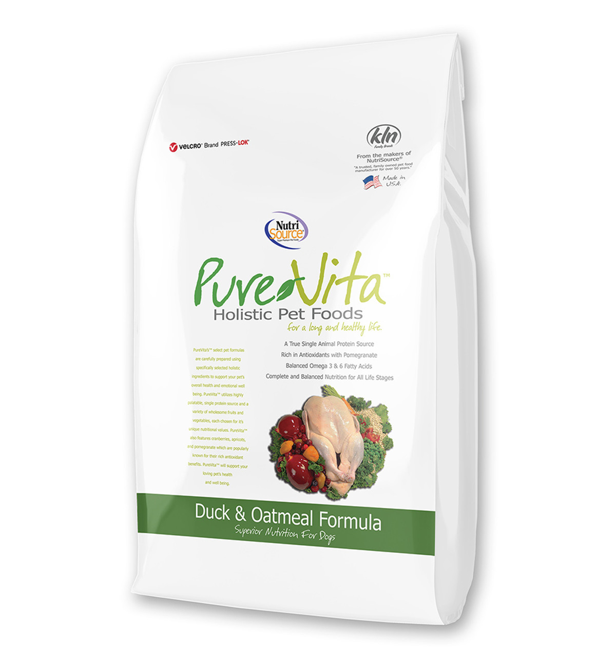 PureVita Duck & Oatmeal Dry Dog Food