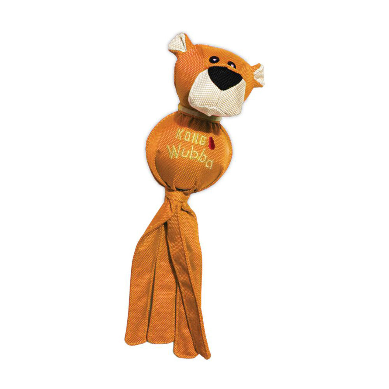 Kong Wubba Ballistic Friends Dog Toy, Assorted - Orange Lion