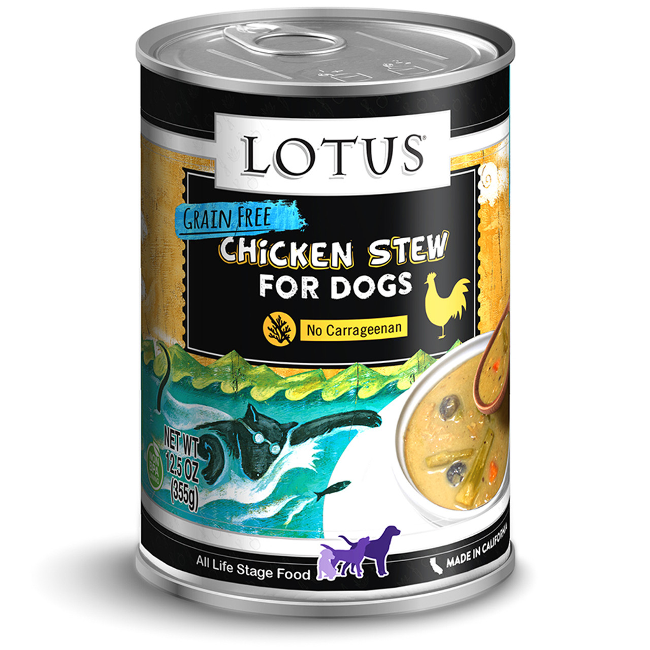 Lotus Chicken and Asparagus Stew Canned Dog Food