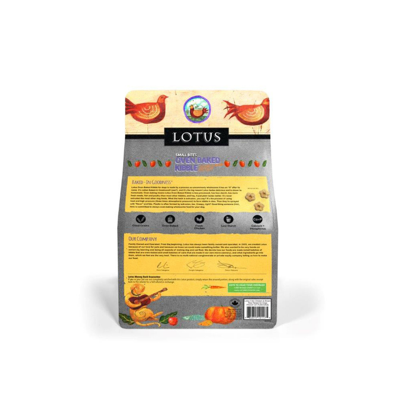 Lotus Small Bites Oven-Baked Chicken Recipe Adult Dry Dog Food