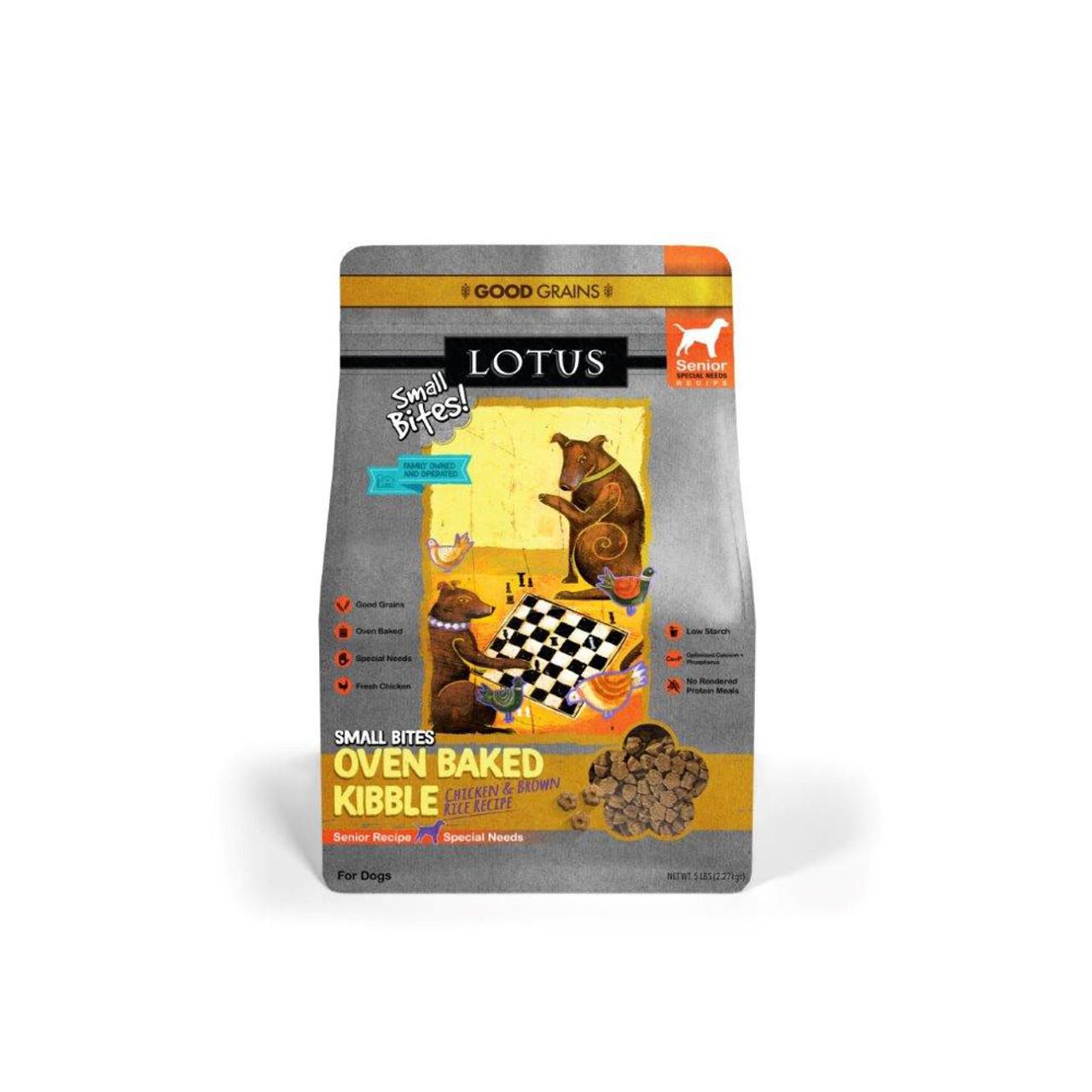 Lotus Senior Small Bites Oven-Baked Chicken Recipe Dry Dog Food