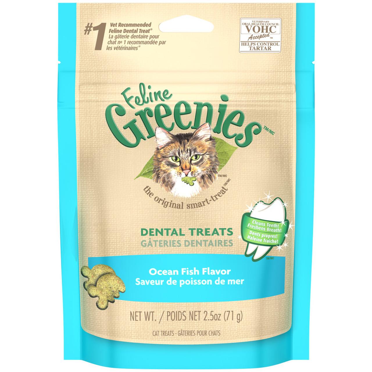 Greenies Ocean Fish Flavor Dental Cat Treats