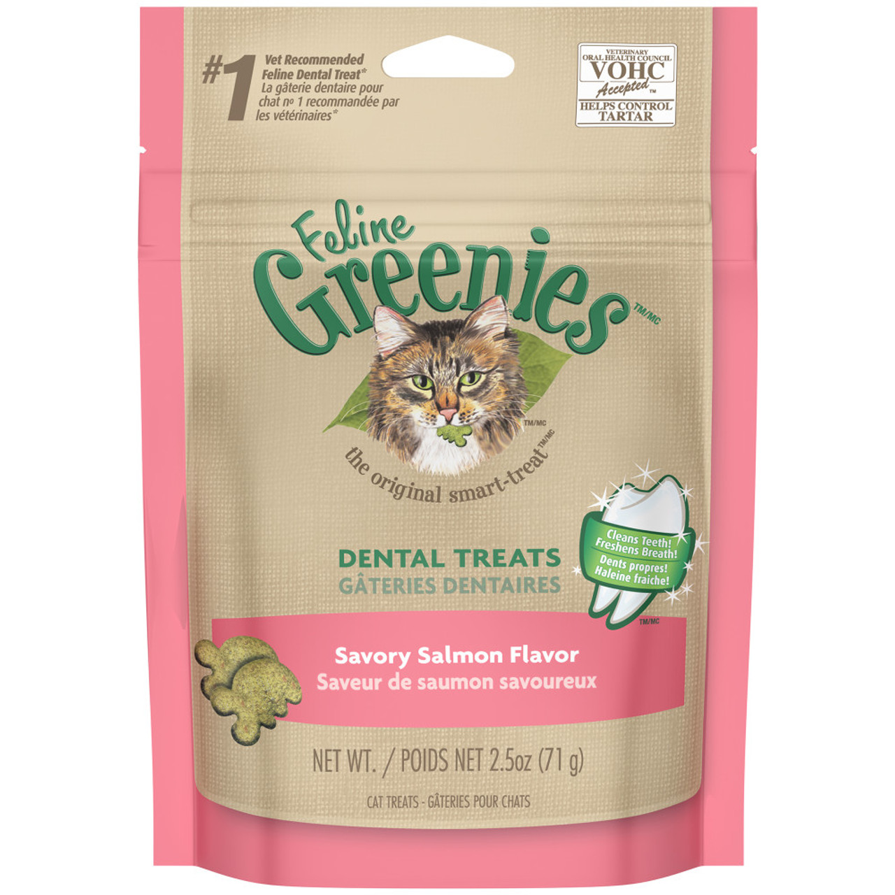 Greenies Savory Salmon Flavor Dental Cat Treats