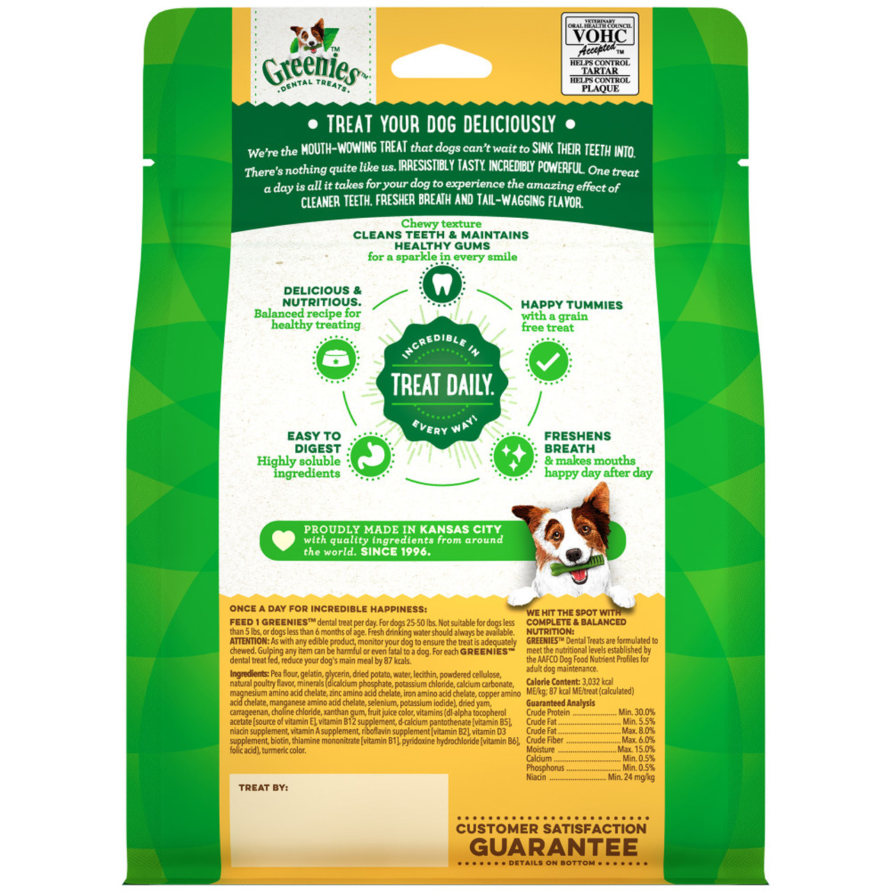 Greenies Grain Free Regular Size Dental Dog Treats