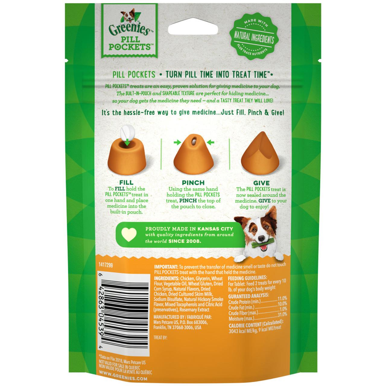 Greenies Original Pill Pockets Chicken Flavor Dog Treats