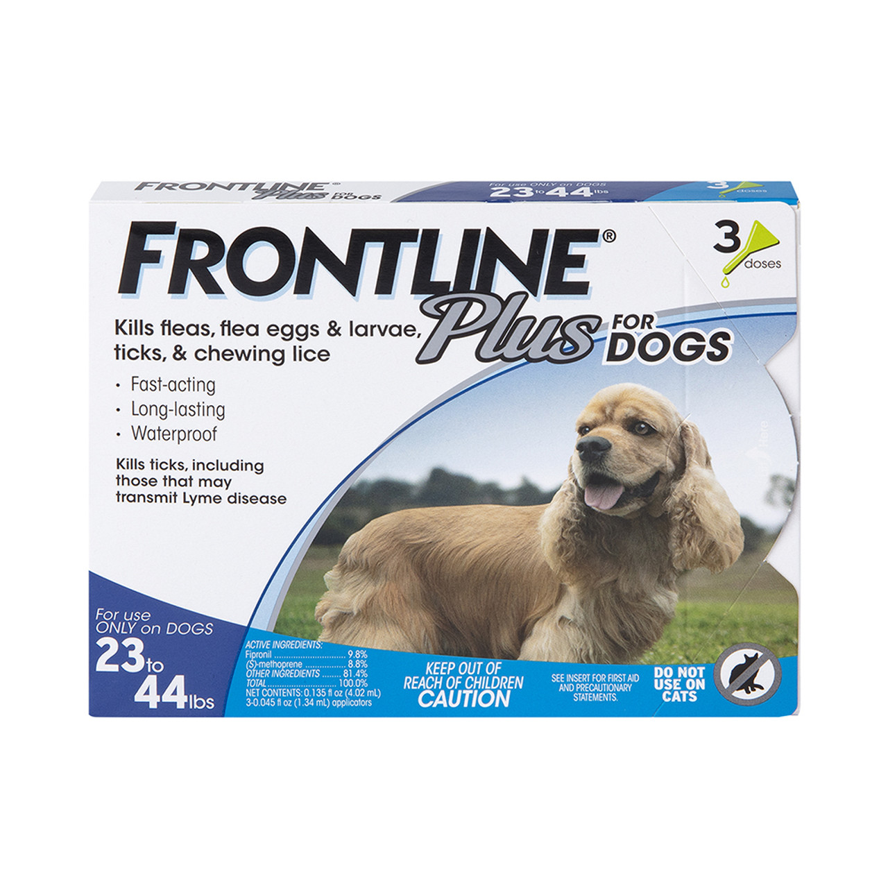 Frontline Plus Flea & Tick Treatment for Dogs & Puppies (23-44 lbs.) - Front