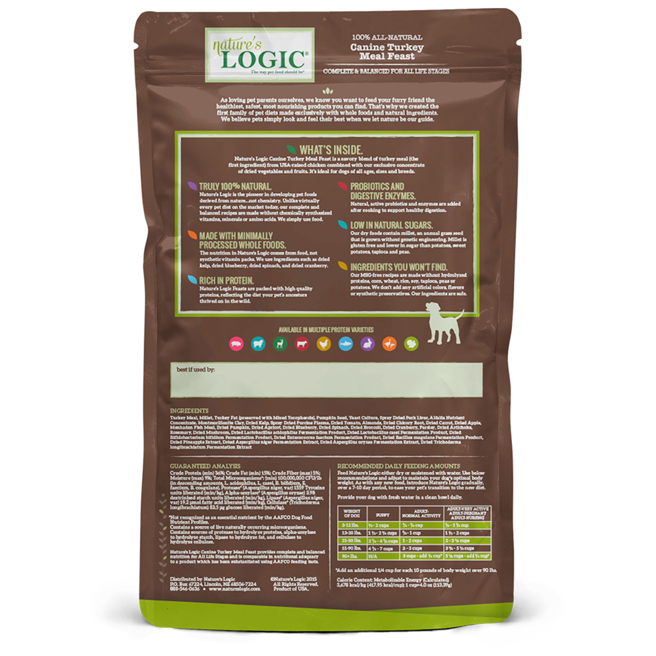 Nature's Logic Canine Turkey Meal Feast Dry Dog Food