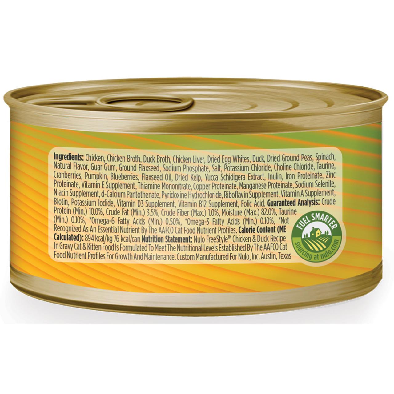Nulo Freestyle Cat & Kitten Shredded Chicken & Duck Recipe In Gravy Canned Cat Food