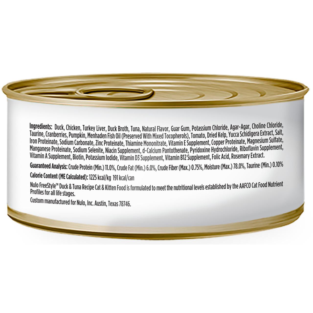 Nulo Freestyle Cat & Kitten Duck & Tuna Recipe Canned Cat Food