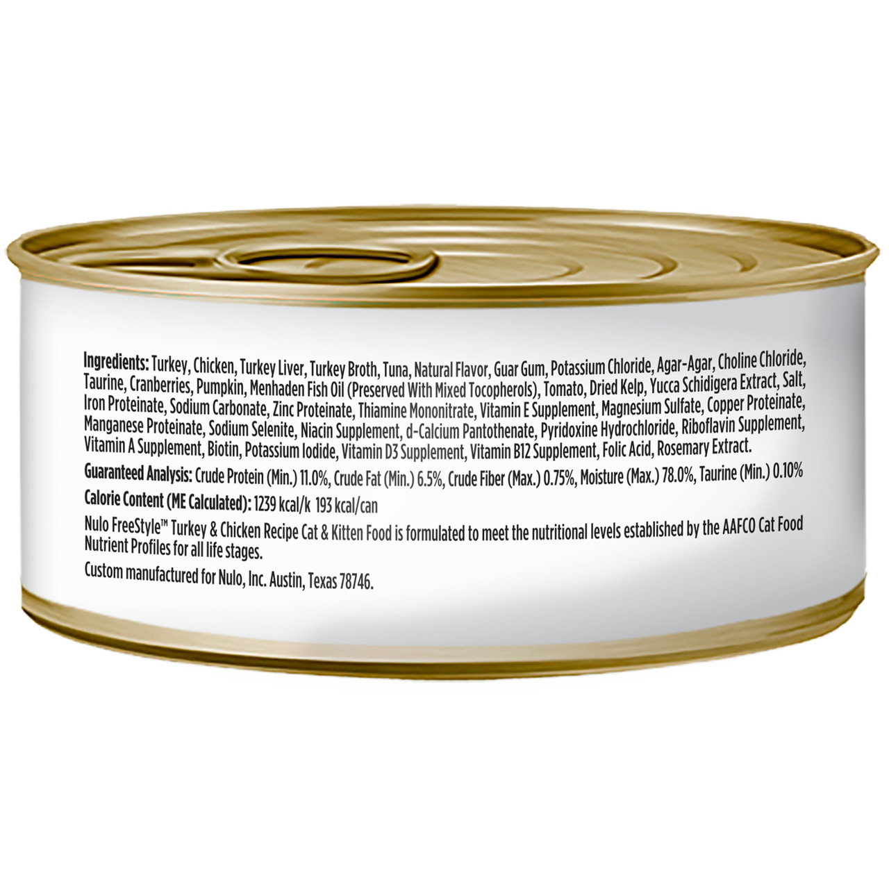 Nulo Freestyle Cat & Kitten Turkey & Chicken Recipe Canned Cat Food