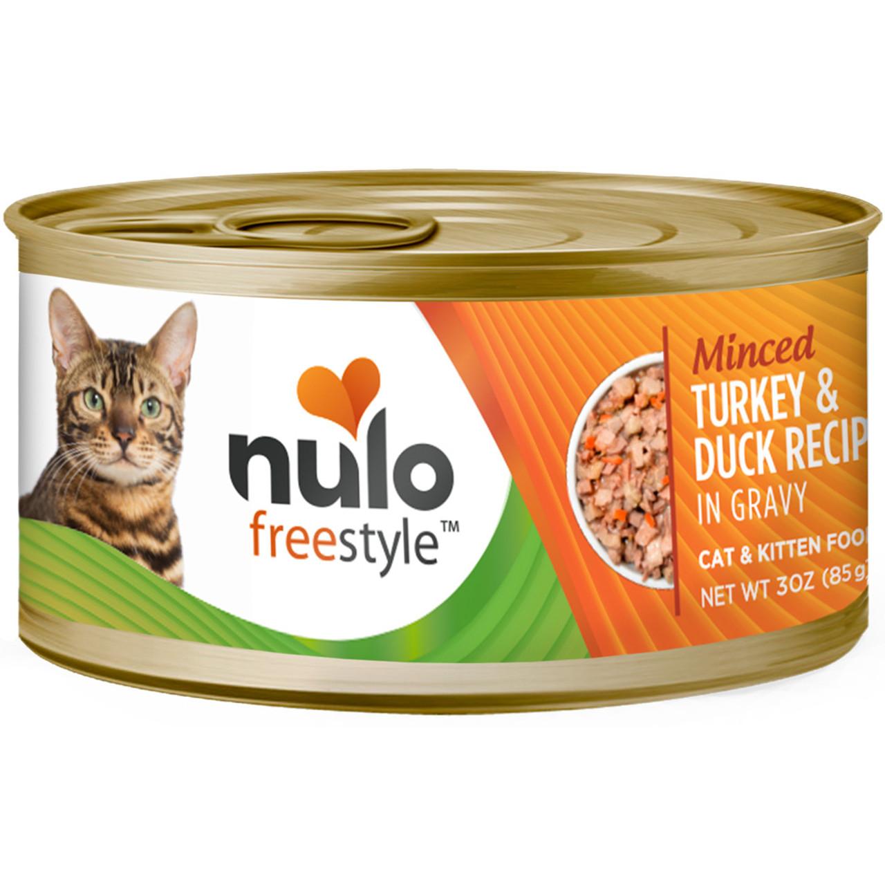 Nulo Freestyle Cat & Kitten Minced Turkey & Duck Recipe In Gravy Canned Cat Food