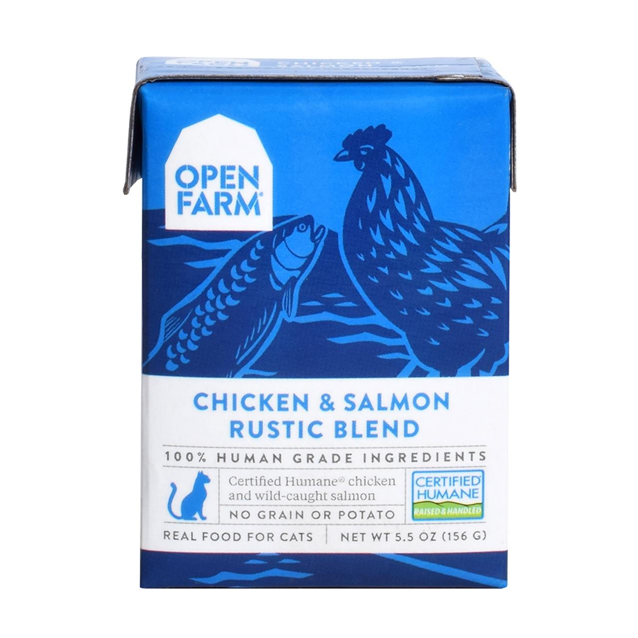 Open Farm Chicken & Salmon Rustic Blend Wet Cat Food Tetra Pack