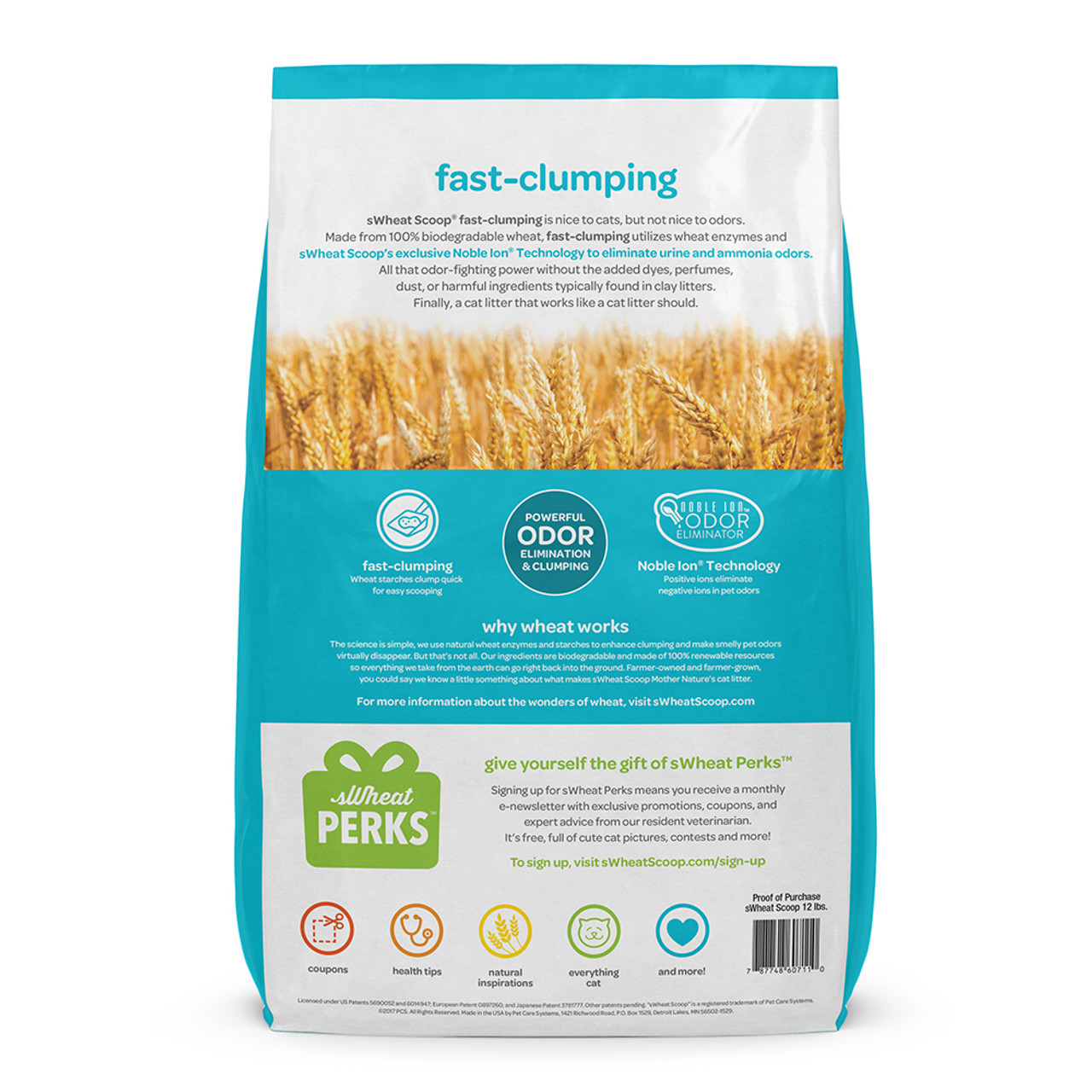 sWheat Scoop Fast-Clumping Cat Litter