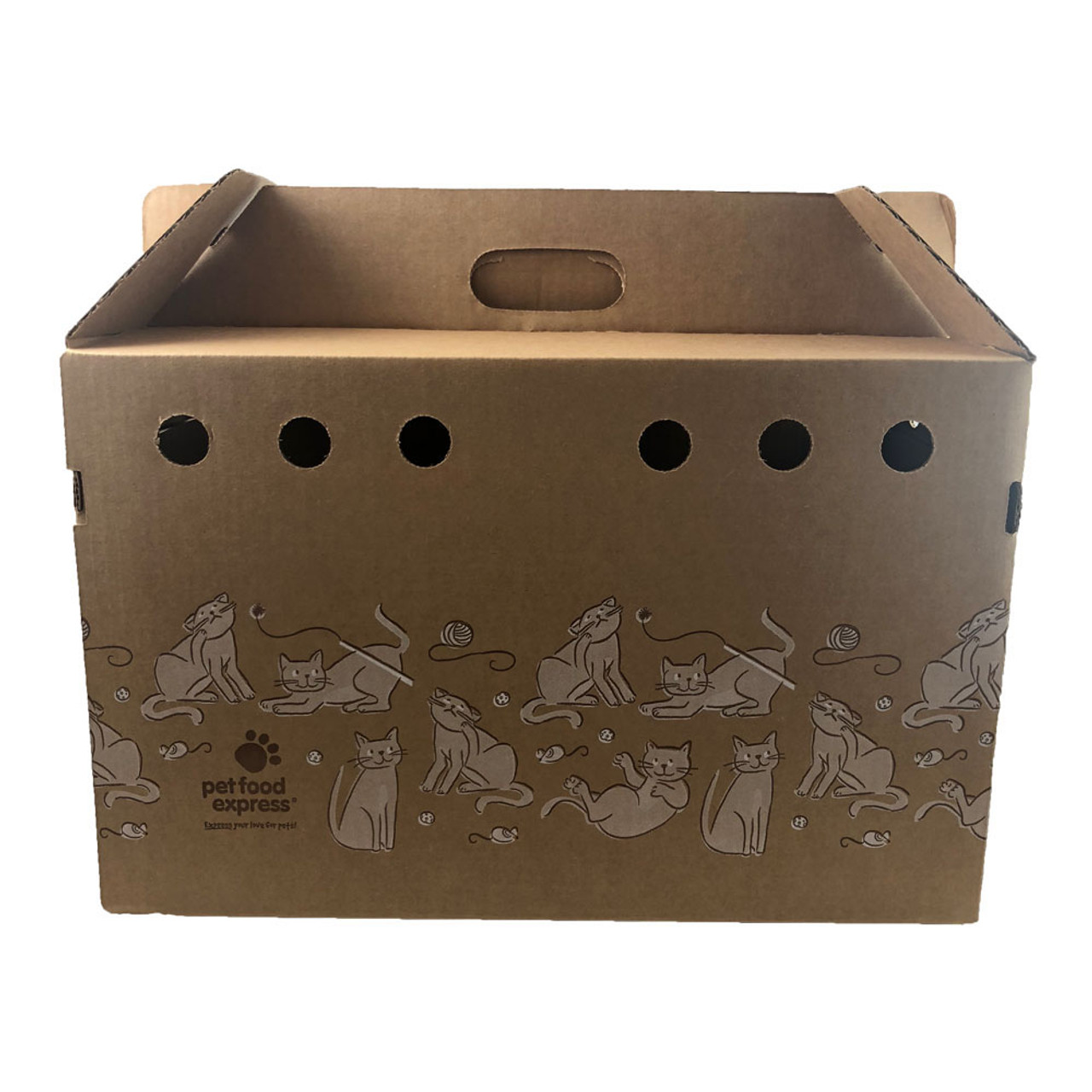 Pet Food Express Cardboard Pet Carrier