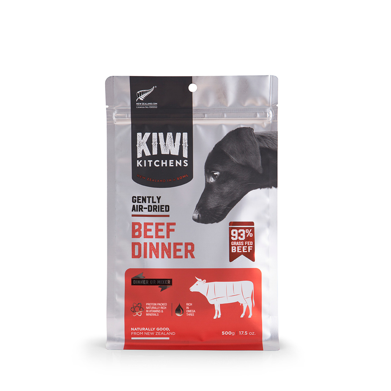 Kiwi Kitchens Gently Air-Dried Beef Dinner Dog Food