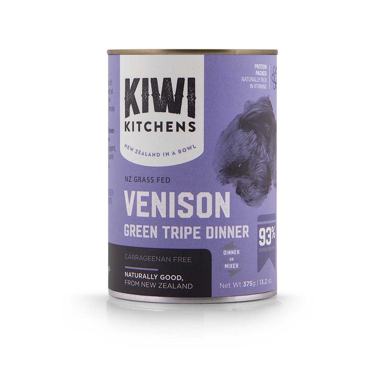 Kiwi Kitchens Grass Fed Venison Green Tripe Dinner Canned Dog Food