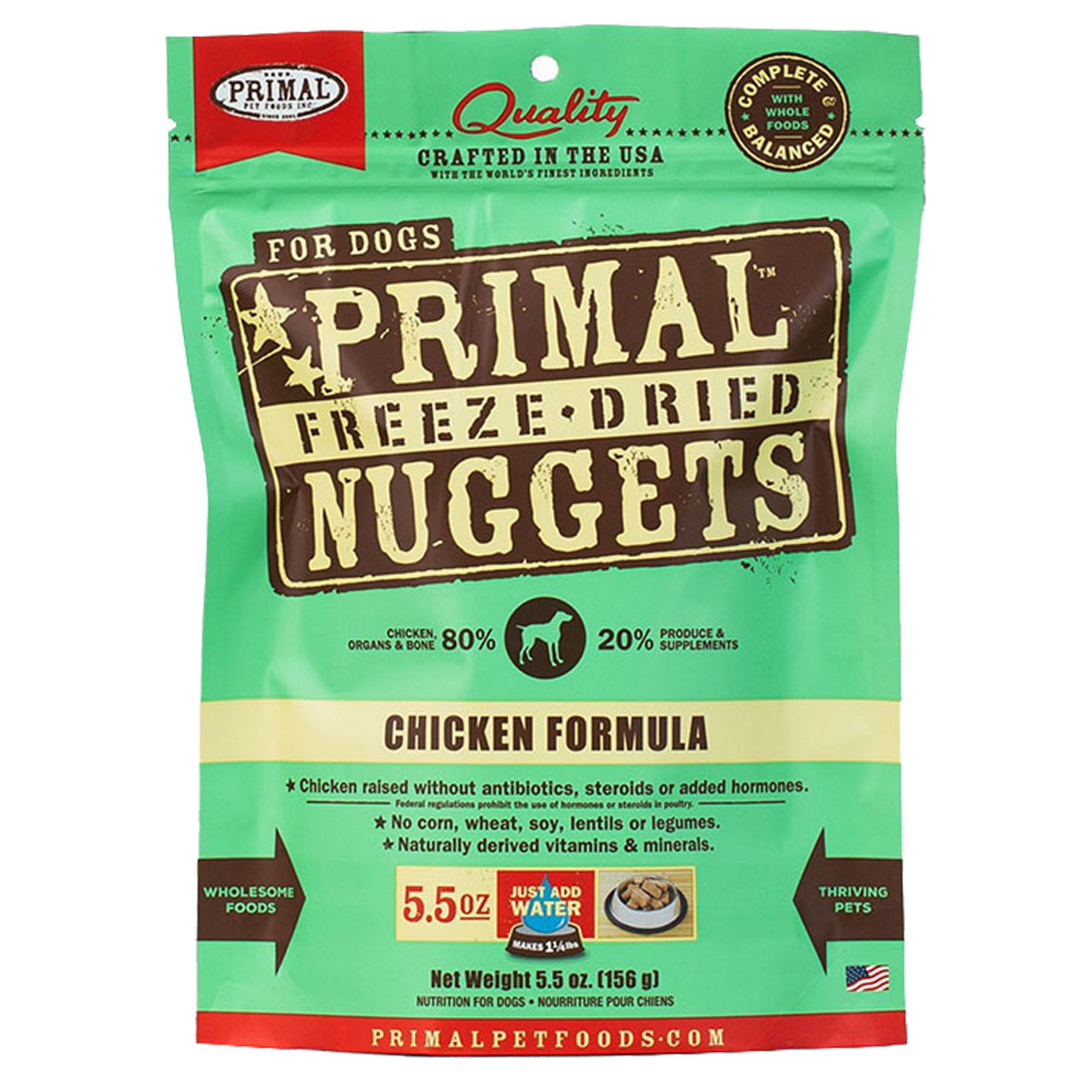 Primal Chicken Formula Raw Freeze-Dried Dog Food - Front