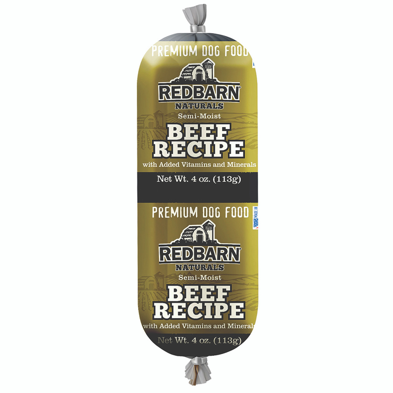 Redbarn Naturals Beef Recipe Rolled Dog Food