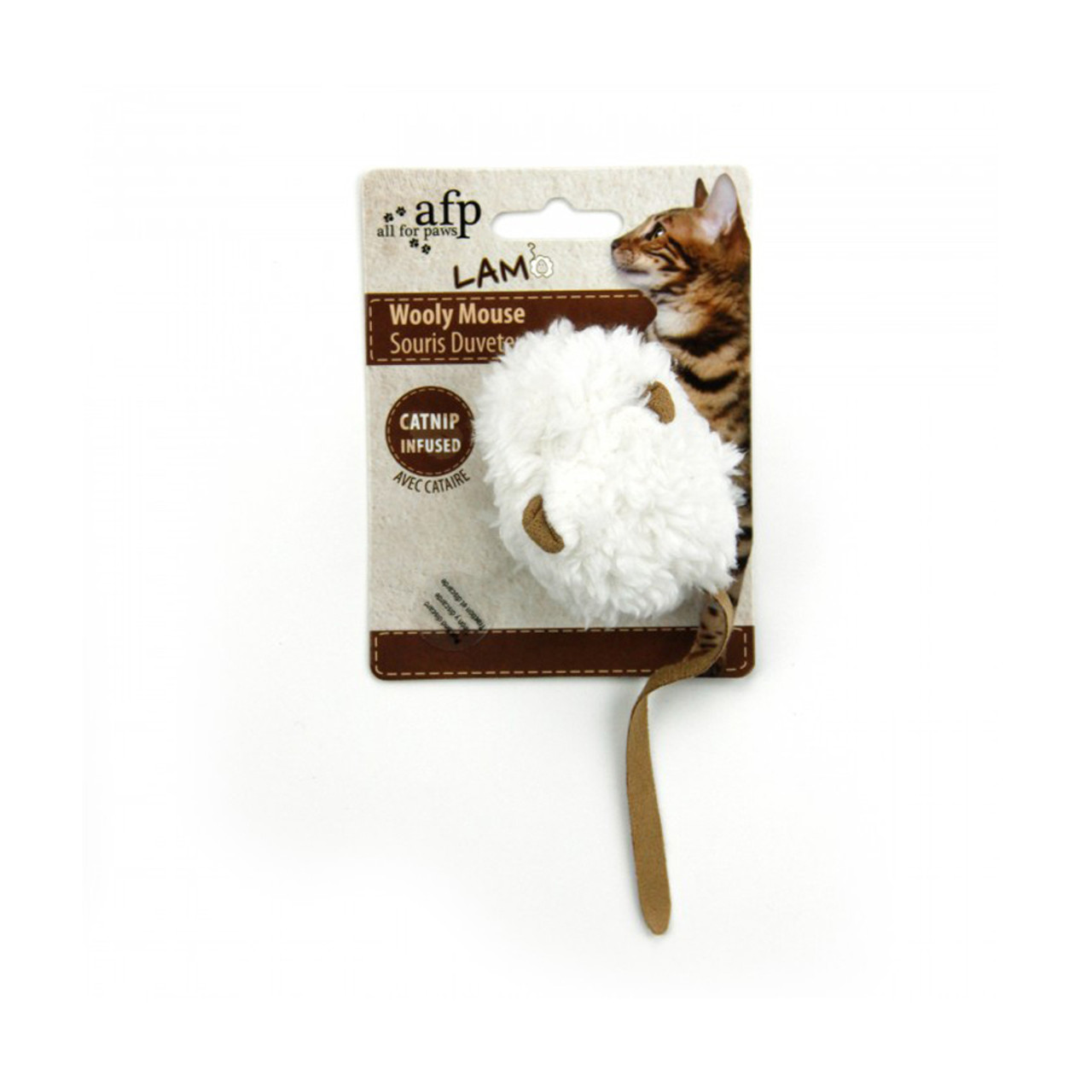 All For Paws Lamb Wooly Mouse Cat Toy